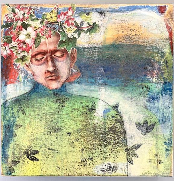 Memory Of Pressed Flowers Art | L BaLoMbiNi / red paint studio