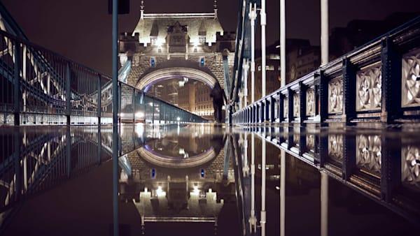 Tower Bridge Puddle #3 Art | Martin Geddes Photography