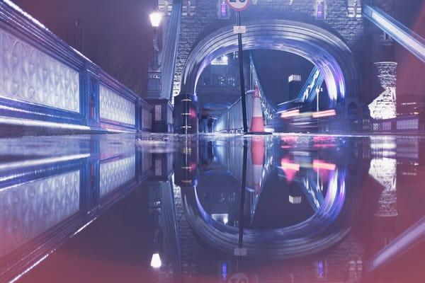Tower Bridge Puddle #1 Art | Martin Geddes Photography