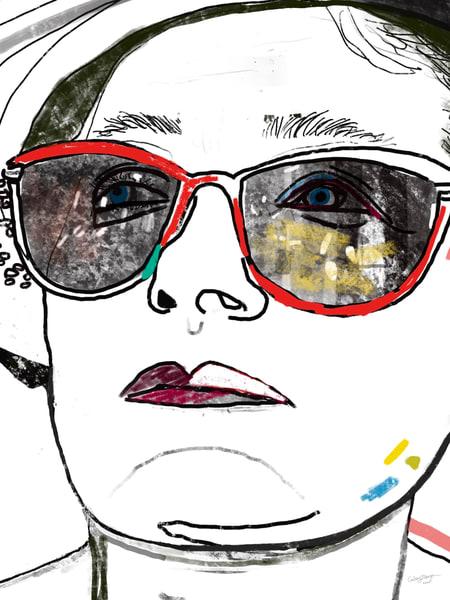 Cerris Glasses Drawing Face Woman