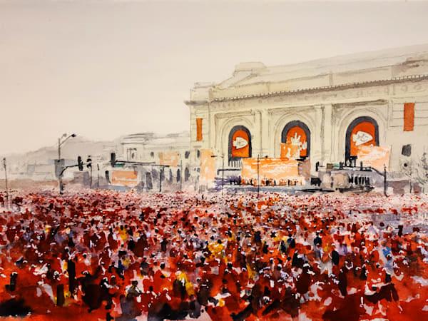 Kc Chiefs Celebration Art | Steven Dragan Fine Art