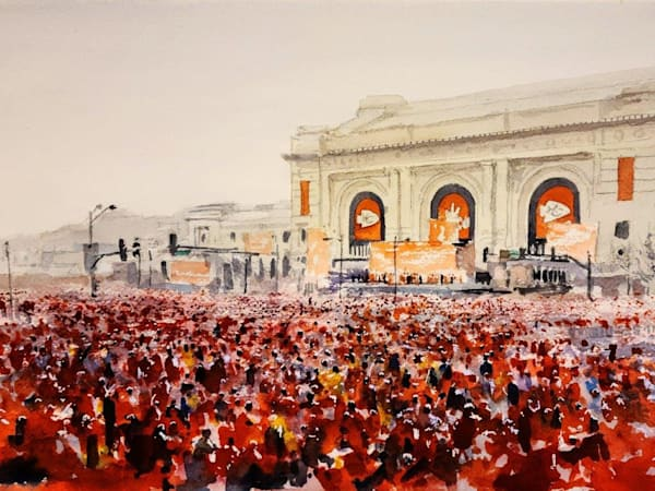 Kc Chiefs Celebration   Original Art | Steven Dragan Fine Art