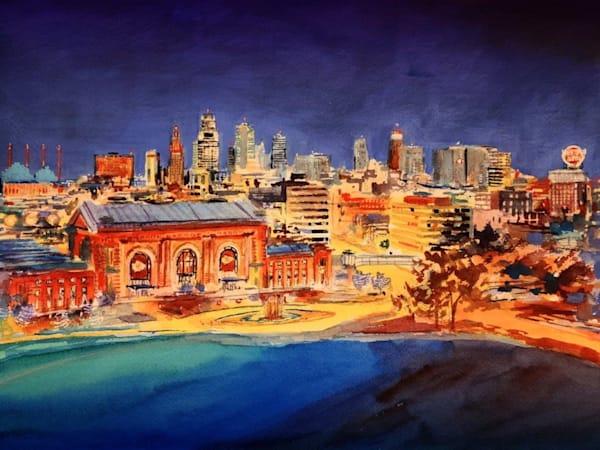 Kc Chiefs Skyline   Original Art | Steven Dragan Fine Art