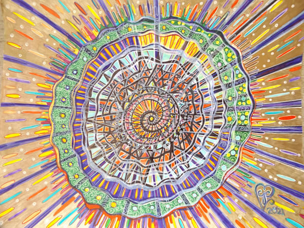 Unwinding Into Our Rainbow Art   Cynthia Christensen Art