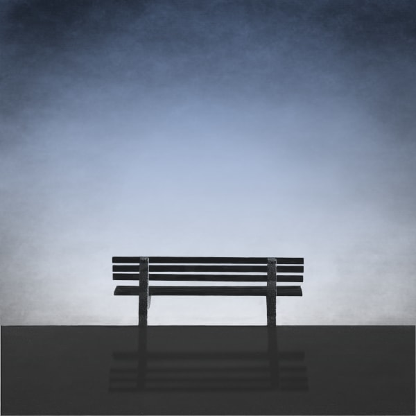 Bench With A Blue View Art   Roy Fraser Photographer