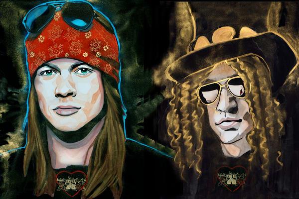 Guns N Roses Art | William K. Stidham - heART Art