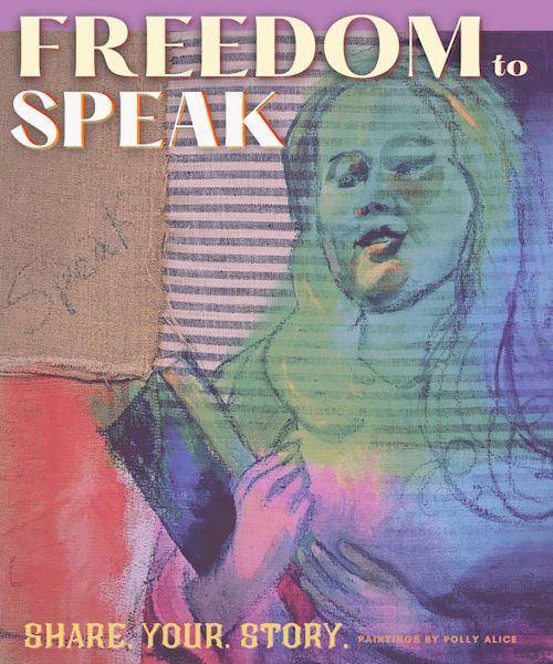 Freedom To Speak Art   Polly Alice Design