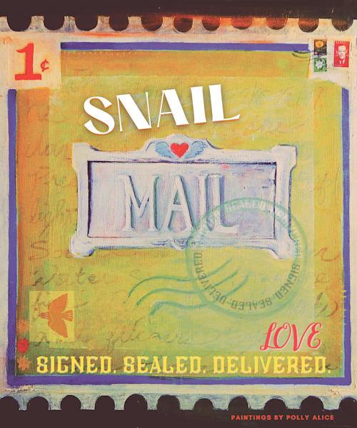 Love Letter Stamp Art | Polly Alice Design