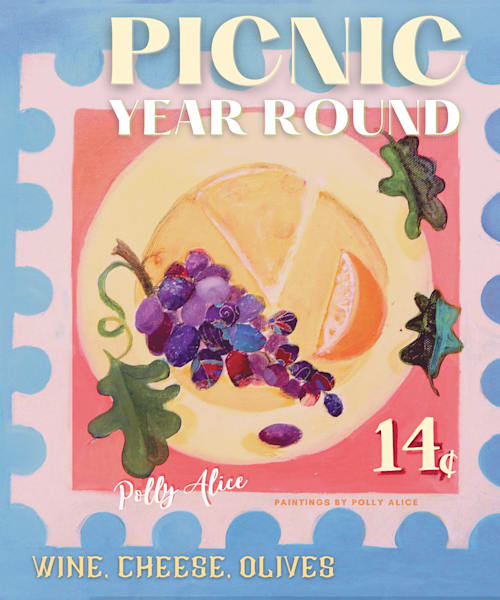 Picnic Stamp Art | Polly Alice Design