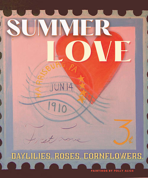 Summer Love Stamp Art | Polly Alice Design