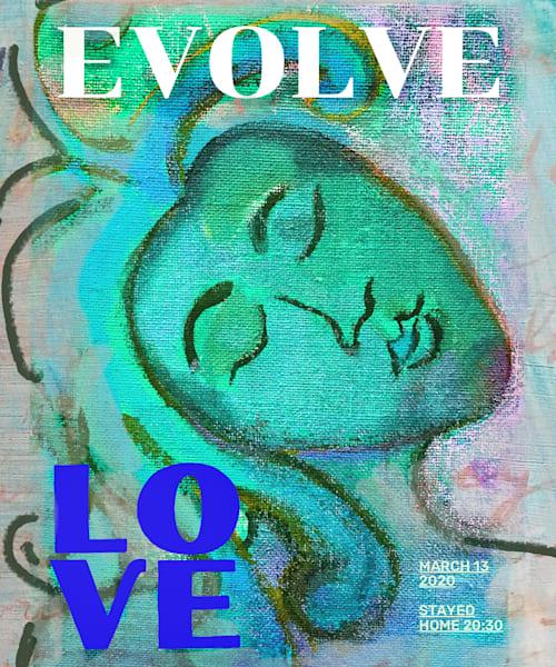 Evolve Love (Teal Lovers) Art | Polly Alice Design
