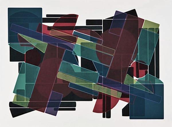 Crooked Line  30 X 40 Etching  (Mono Print) Art | Patrick M. Parise