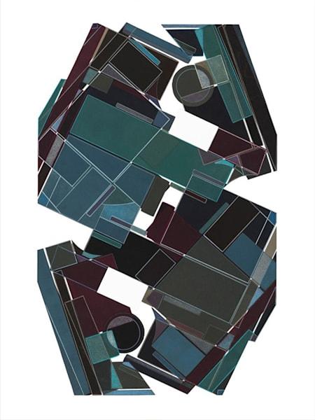 Boxed In  40 X 30 Multiple Plate Etching ( Mono Print ) Art | Patrick M. Parise