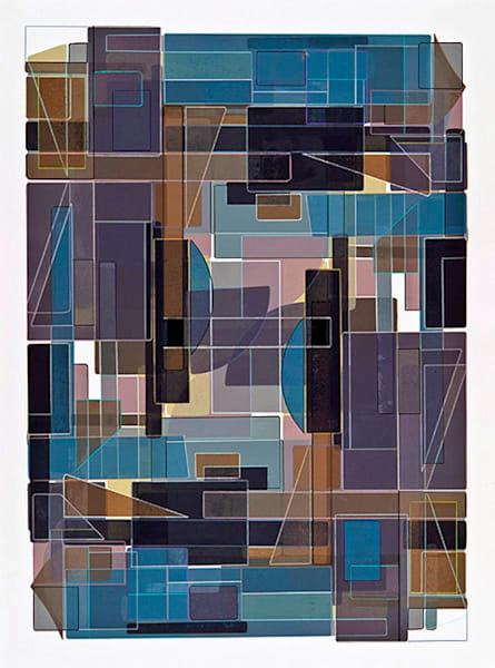 Outside Inside  40 X 30  Multiple Plate Etching (Mono Print) Art | Patrick M. Parise