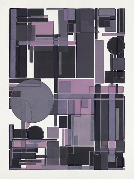 Winter's End 30 X 40  Multiple Plate Etching Art | Patrick M. Parise