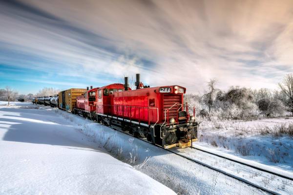 Working The Winter Rails Photography Art | Trevor Pottelberg Photography