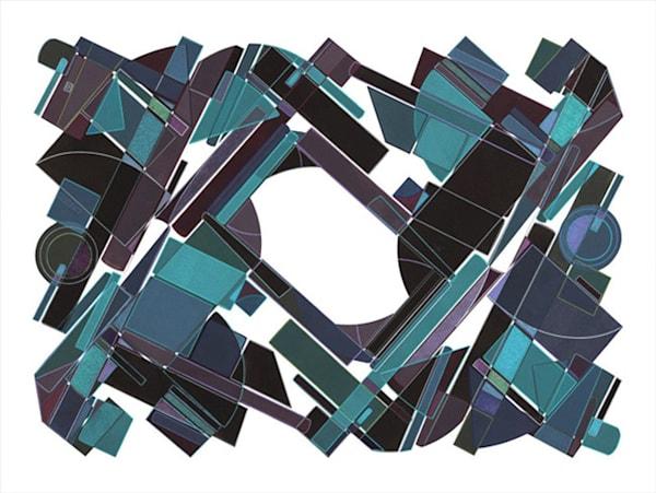 Surrounded  30 X 40 Multiple Plate  Etching (Mono Print) Art | Patrick M. Parise