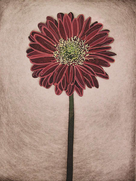 Stand Alone   Hand Colored Etching Etching Art | Patrick M. Parise