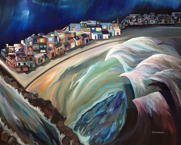 """""""And the Water Shall Rise"""" Original Artwork by Emily Gilman Beezley"""