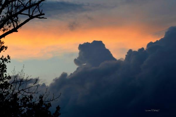 Dragon Cloud 02 floating into the sunset along the Delaware River - Debra Cortese art
