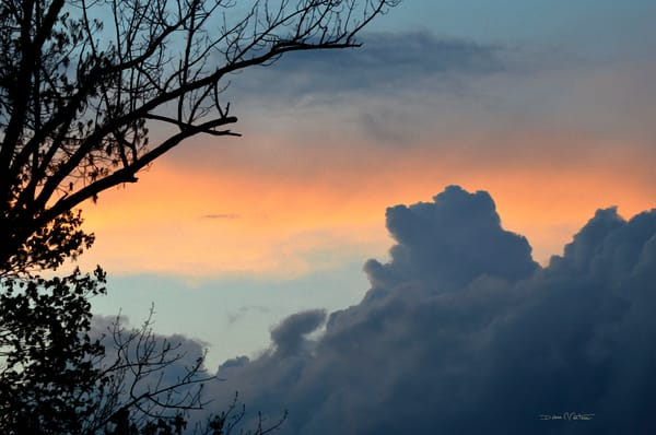 Dragon Clouds floating into Sunset - Delaware River Views - Debra Cortese