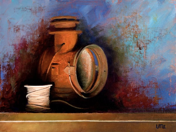 'Rusted' oil painting still life by Ed Little, Bridgewater, CT