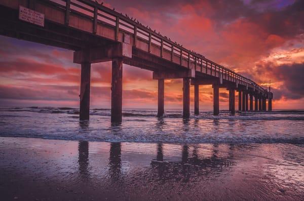 St. Augustine Pier Sunrise Photography Art | kramkranphoto