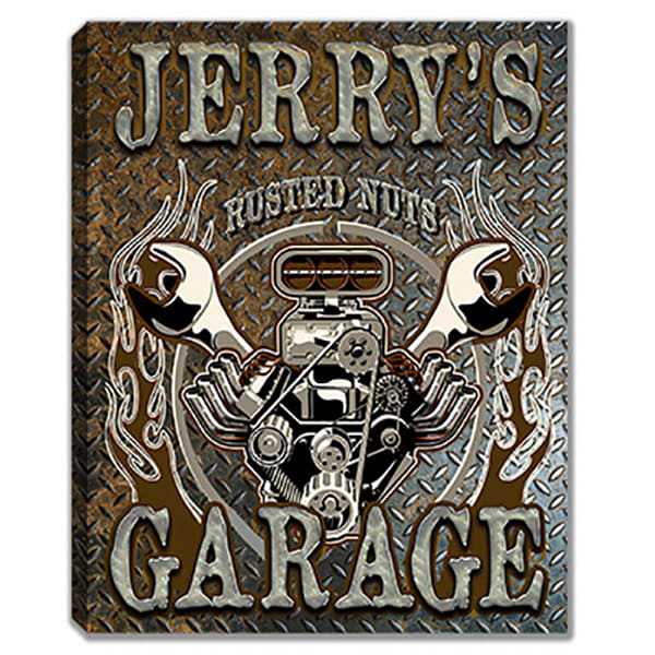 Personalizable Garage Sign Canvas Print | Photo 2 Canvas Direct