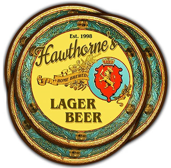 """Personalizable Lager Beer 4"""" Round Coasters   Set Of 4   Photo 2 Canvas Direct"""