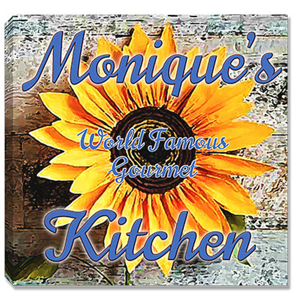 Personalizable World Famous Gourmet Kitchen Canvas Print Sign | Photo 2 Canvas Direct