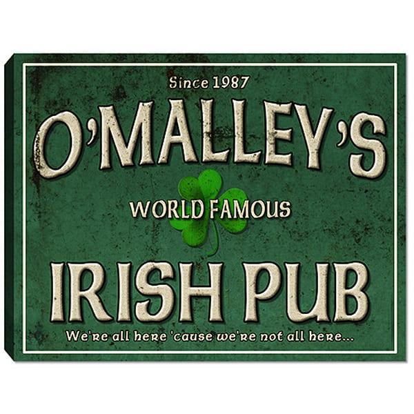 Personalizable Irish Pub Canvas Print | Photo 2 Canvas Direct