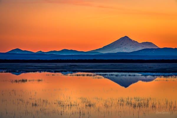 Orange Klamath Sunset Photography Art | Barb Gonzalez Photography
