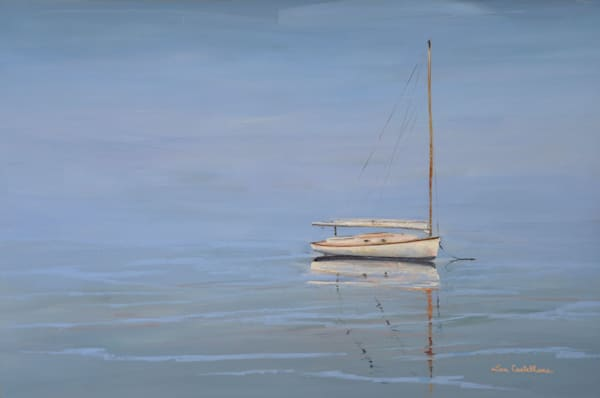 White Catboat Photography Art | The Colors of Chatham