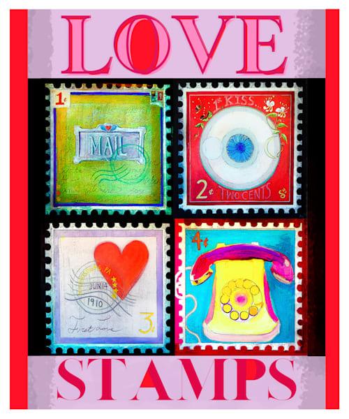 Love Stamps (Lavender) Art | Polly Alice Design