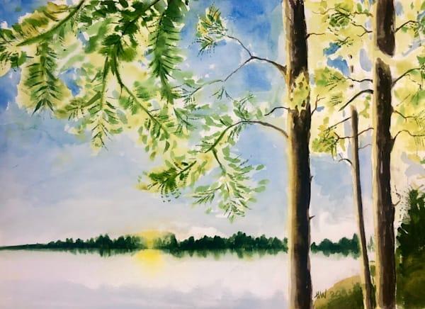 Adirondack Lake painting by Holly Whiting