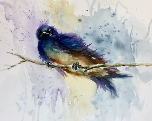 Purple Martin on the Lookout painting by Holly Whiting