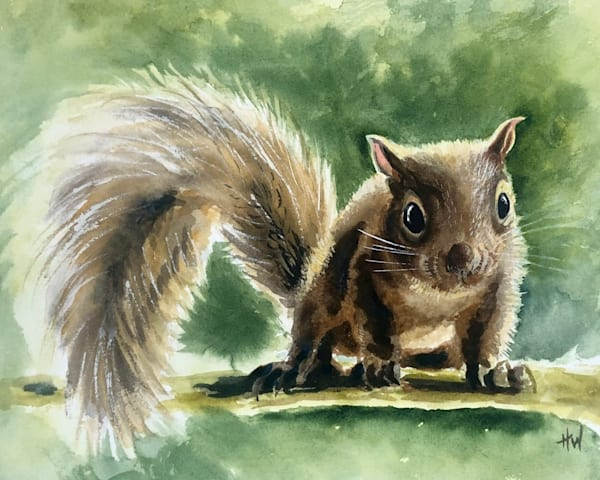 Baby squirrel painting by Holly Whiting