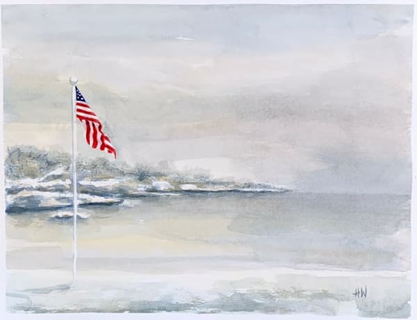 Winter Harbor painting by Holly Whiting