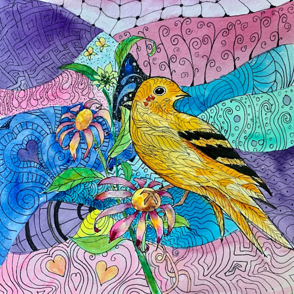 Messenger Bird painting by Holly Whiting