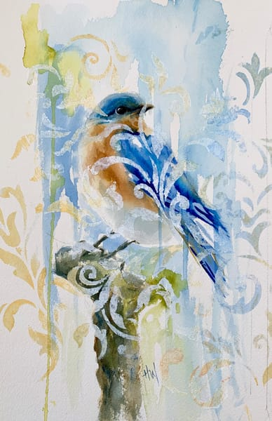 Bluebird Blues painting by Holly Whiting