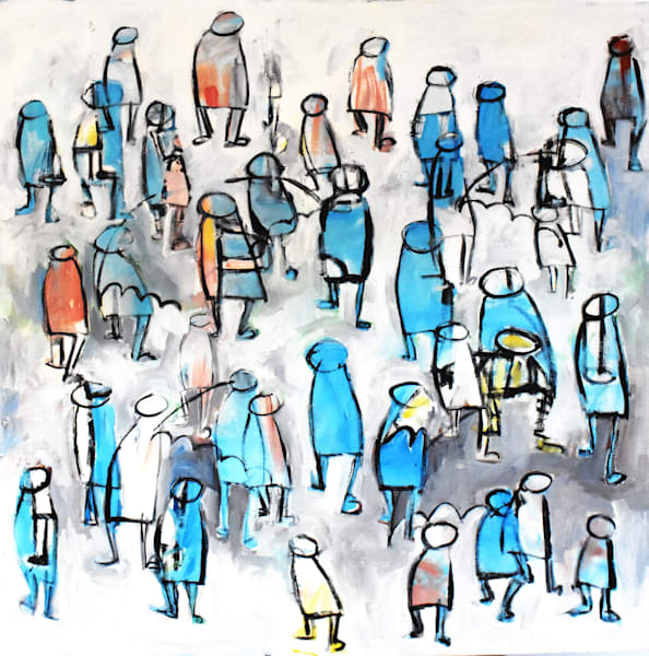 City and People Paintings