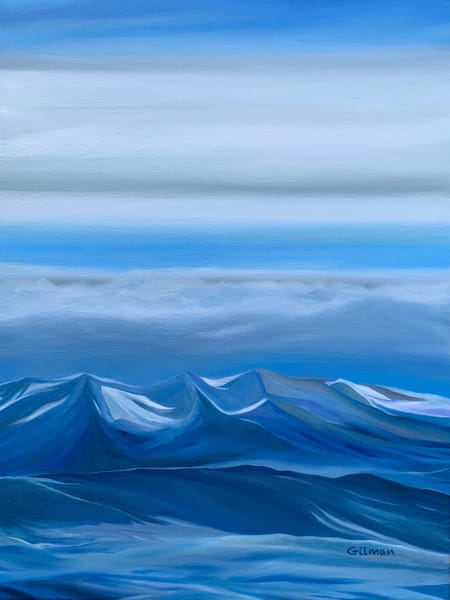 """Mountain Atmospheric Effect"" Original Artwork by Emily Gilman Beezley"