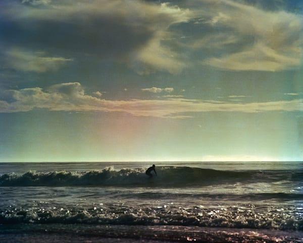 California Seascape - Surfer at Jalama