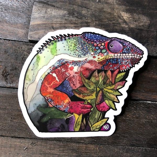 Panther Chameleon Sticker   Water+Ink Studios