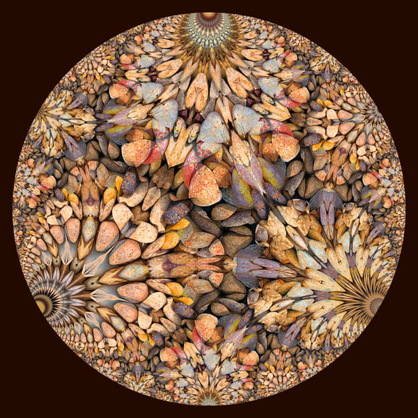 Hyperbolic Pebbles Decorative Art 1
