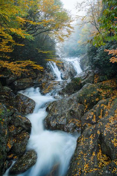 Sunburst Falls - North Carolina Waterfall Print