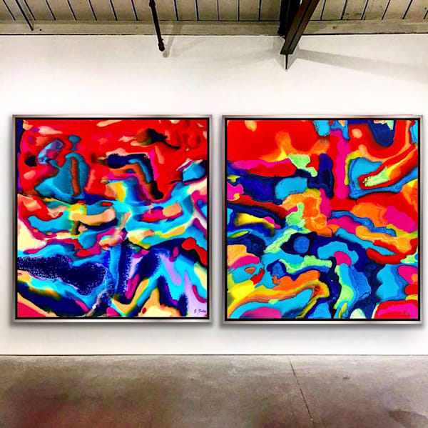"""Unentitled I And Ii"" Diptych Art 