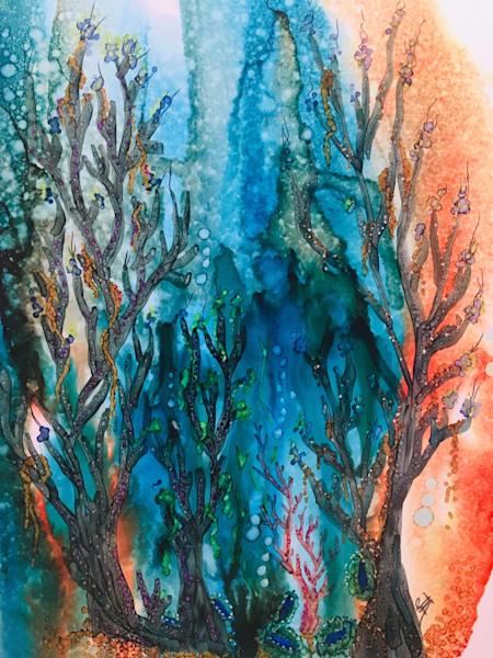 Deep Blue Art   Art With Judy Ann