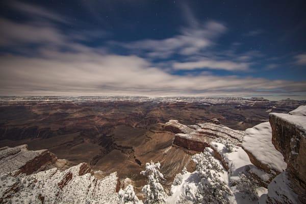 Grand Canyon, snow, night, Arizona, stars, photograph, photo, 21