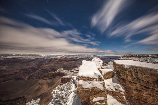 Grand Canyon, snow, night, Arizona, stars, photograph, photo, 19